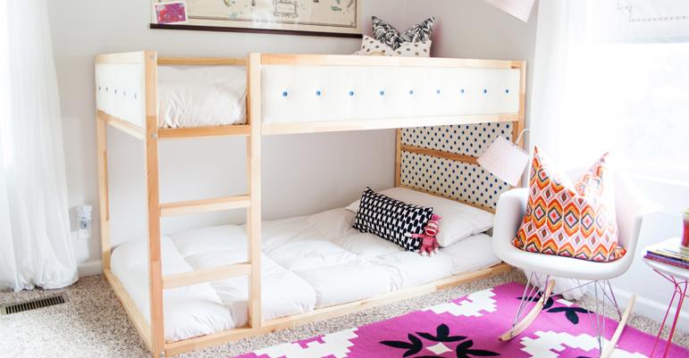 Ikea hack kura bed customizen ministijl for Zit kussens