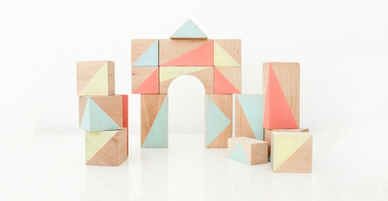 Houten blokken verven   DIY