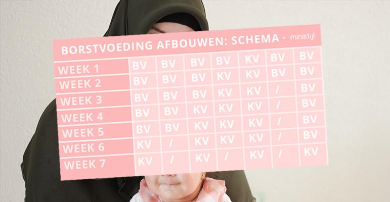 hoe borstvoeding afbouwen