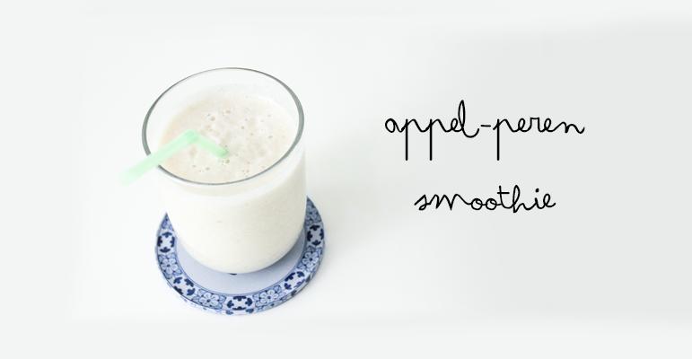 Smoothies recepten: Gezonde appel-perensmoothie