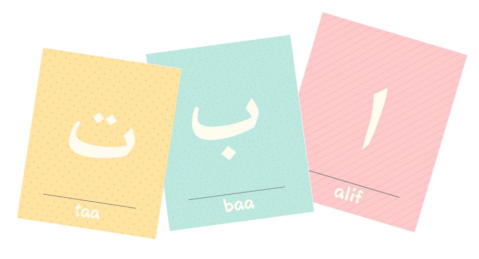 Kleurplaten Arabische Letters.Arabische Alfabet Flashcards Arabische Letters Ministijl