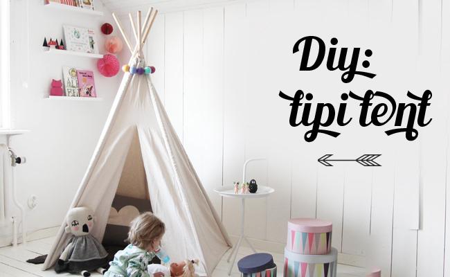 Tipi Tent Kinderkamer : Diy: tipi tent wigwam ministijl