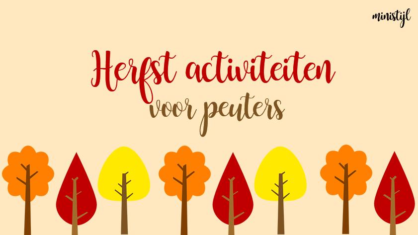 Kleurplaten Peuters Herfst.Herfstactiviteiten Thema Herfst Voor Peuters Ministijl